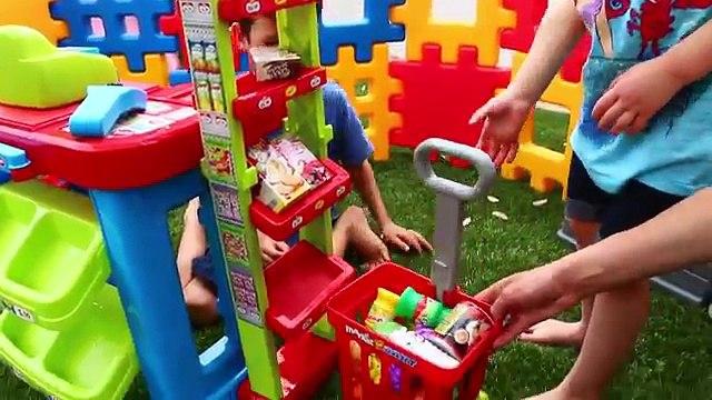 Kids Super Market Grocery Store Playset Electronic Cash Register Play Food DisneyCarToys N