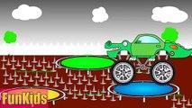 Enfants pour jouets machines pro avec camion jeep vidéo monstre avec de grandes roues pour changer de pneus