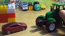 Coches de dibujos animados mundo de las máquinas de la serie 3 de camión tractor caliente hormigonera VILS etc.
