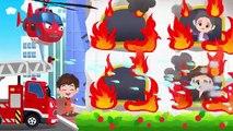Dessins animés dessins animés pro le développement de camion de pompier de camion de pompier éteint les camions de pompiers