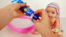 Bébé des ballons bain bulle enfants les couleurs poupée pour enfants Apprendre temps équipe les tout-petits avec