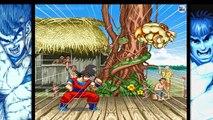Combattant les niveaux puissance rue contre goku ii Goku vs Street Fighter 2