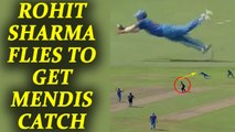 India vs Sri Lanka 3rd ODI : Rohit Sharma takes an outstanding catch to get Mendis | Oneindia News