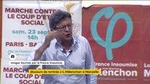 """Mélenchon appelle """"le peuple"""" à """"déferler"""" à Paris le 23 septembre """"contre le coup d'Etat social"""" de Macron"""