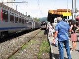 Aix-Les-Bains : la locomotive à vapeur 241 P 17 est arrivée en gare