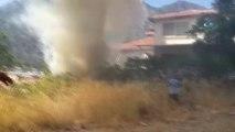 Marmaris'te Ev Yangını Ormana Sıçramadan Söndürüldü