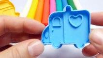 Apprendre arc en ciel les couleurs avec pâte à modeler Créatif bricolage amusement pour enfants avec la modélisation argile