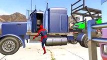 Et enfants couleur les couleurs couleurs pour enfants Apprendre homme araignée à Il un camion avec