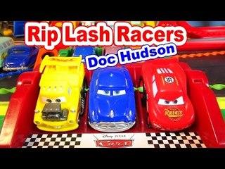 Disney Pixar Cars Unboxing RipLash Racers Doc Hudson and Lightning McQueen
