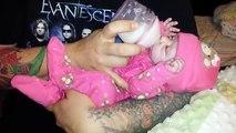 Bébé poupées vie comme comme matin mouvement en mouvement renaître arrêter Routine danimation