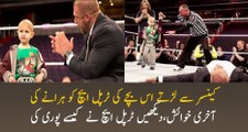 cancer patient last wish that he want to fight with Triple H completes his wish