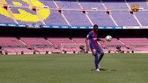 La présentation de Dembélé au Camp Nou