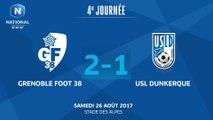J4 : Grenoble Foot 38 - USL Dunkerque (2-1), le résumé