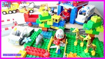 Lego Duplo train stopmotion Surprise Eggs toys Peppa Pig Spongebob Minions Lego Duplo Buzz
