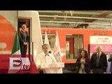 Mancera entrega tres trenes rehabilitados del STC / Ingrid Barrera