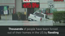 US Coast Guard rescues flood victims in Houston