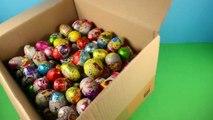 Balle des voitures des œufs gelé domestiques porc déballage avec 300 kinder surprise peppa dragon 2