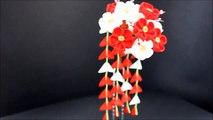 Epingle à cheveux ornementale japonaise - Kanzashi 【Moyen】 - Prune japonaise rouge, hiver