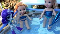 Et à petit mon fête poney piscine la natation tout petit les tout-petits Elsa anna annia elsia anna