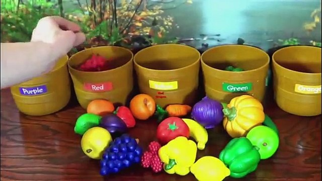 Toddler Learning Video for Kids Learn Colors Fruits & Veggies Sorting Fruits Vegetables To