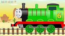 Rouge Entrainer contre vert Entrainer les trains dessin animé pour enfants