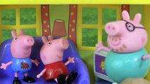 Et papa journée dîner et et momie porc récréation action de grâces Peppa george peppa