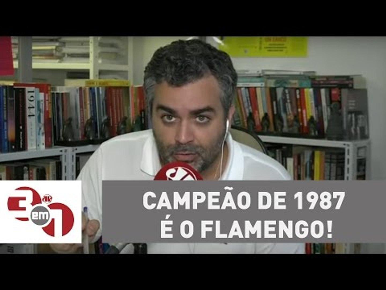 Andreazza: O campeão de 1987 é o Flamengo, tem que respeitar