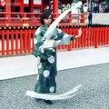 Danse traditionnelle au ruban japonais