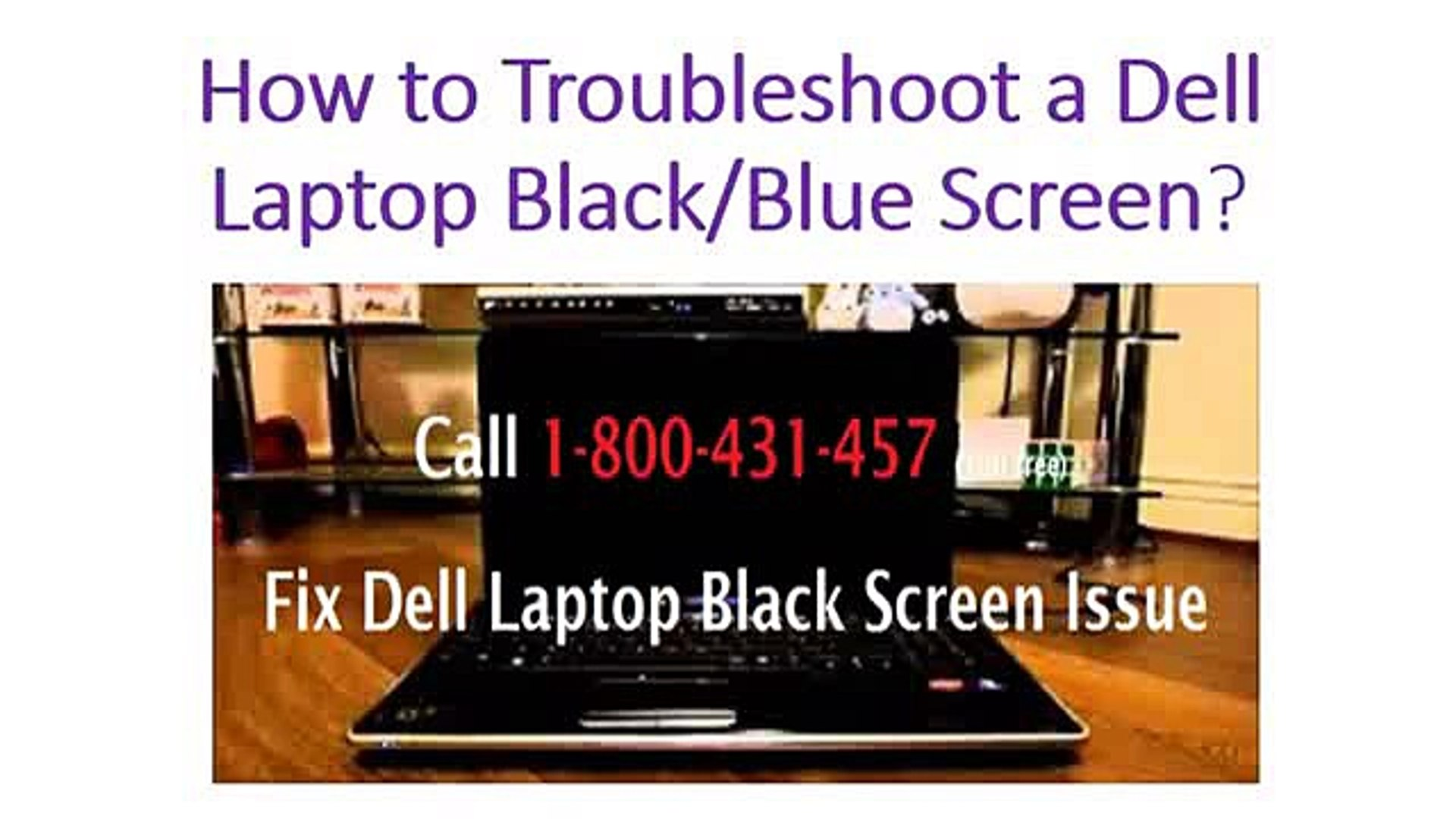 Troubleshoot a Dell Laptop Black/Blue Screen | 1-800-431-457 Australia  Support