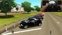 Voiture ville au volant épique en volant Km / h Bugatti veyron 416 crash