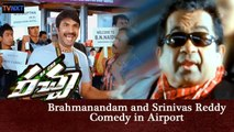 Racha Movie Scenes |Brahmanandam and Srinivas Reddy Comedy in Airport | Venu Madhav Comedy Scenes