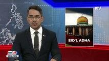 Du30 declares September 1, Friday a regular holiday for Eid'l Adha