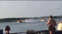 Un Canadair percute une peniche en venant se recharger en eau sur un lac