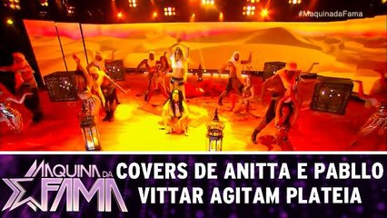 Covers de Anitta e Pabllo Vittar agitam plateia