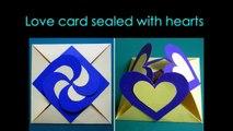 Un et un à un un à carte enveloppe cadeau les coeurs Comment interverrouillage Apprendre faire faire scellé à Il avec