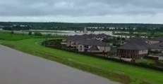 Aerial Footage Captures Scale of Flooding Near Brazos River, Texas
