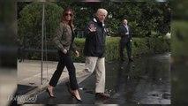 Melania Trump Takes Heat for Wearing Stilettos To Tour Houston Flood Zone | THR News