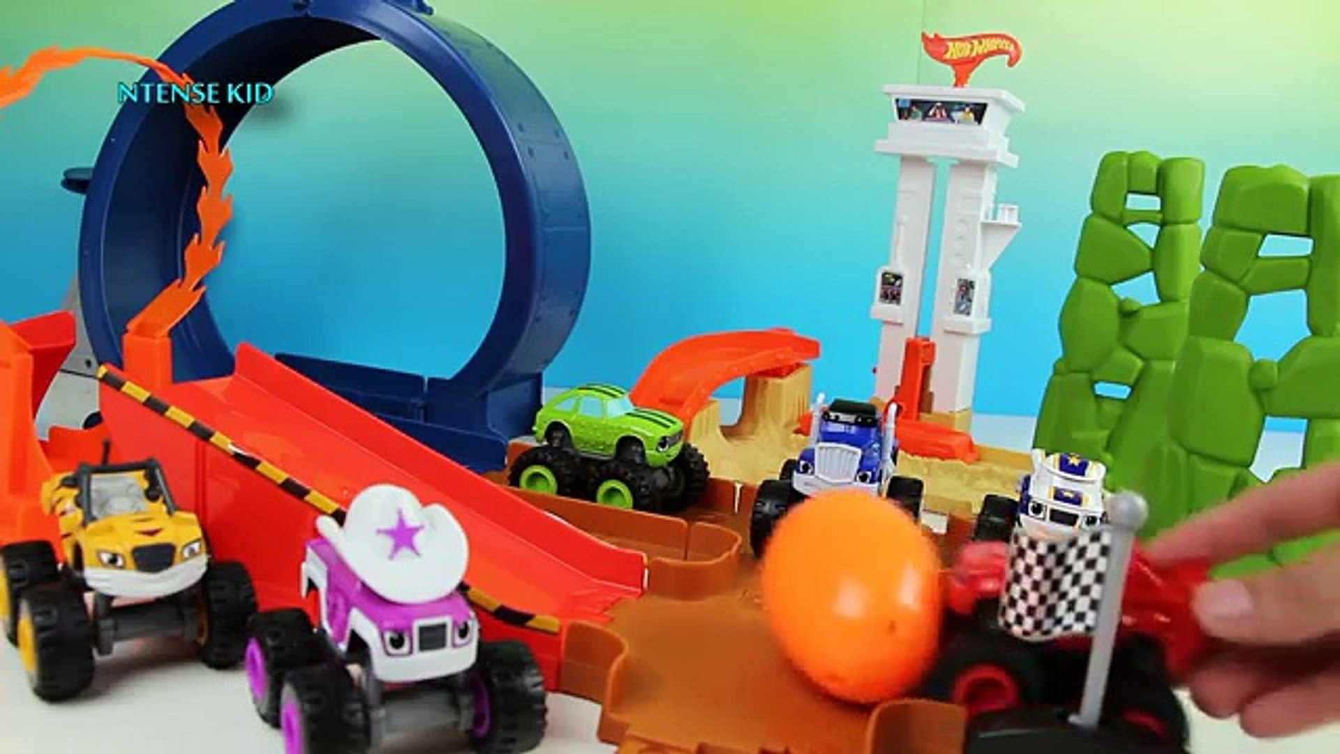 Surprise Eggs Learn Colors For Children With Color Blaze And The Monster Machines