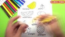 Par par gâteau coloration les couleurs dessin pour drôle enfants apprentissage Pages fruits