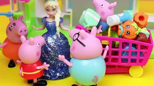 Aventure et poupées gelé porc fuyez avec Peppa george shopkins elsa anna disneycartoys