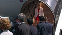 Prime Minister Theresa May arrives in Japan