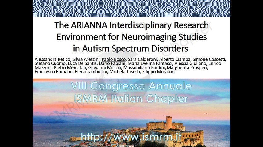 C12 The ARIANNA interdisciplinary research environment for Neuroimaging studies in Autism Spectrum Disorders
