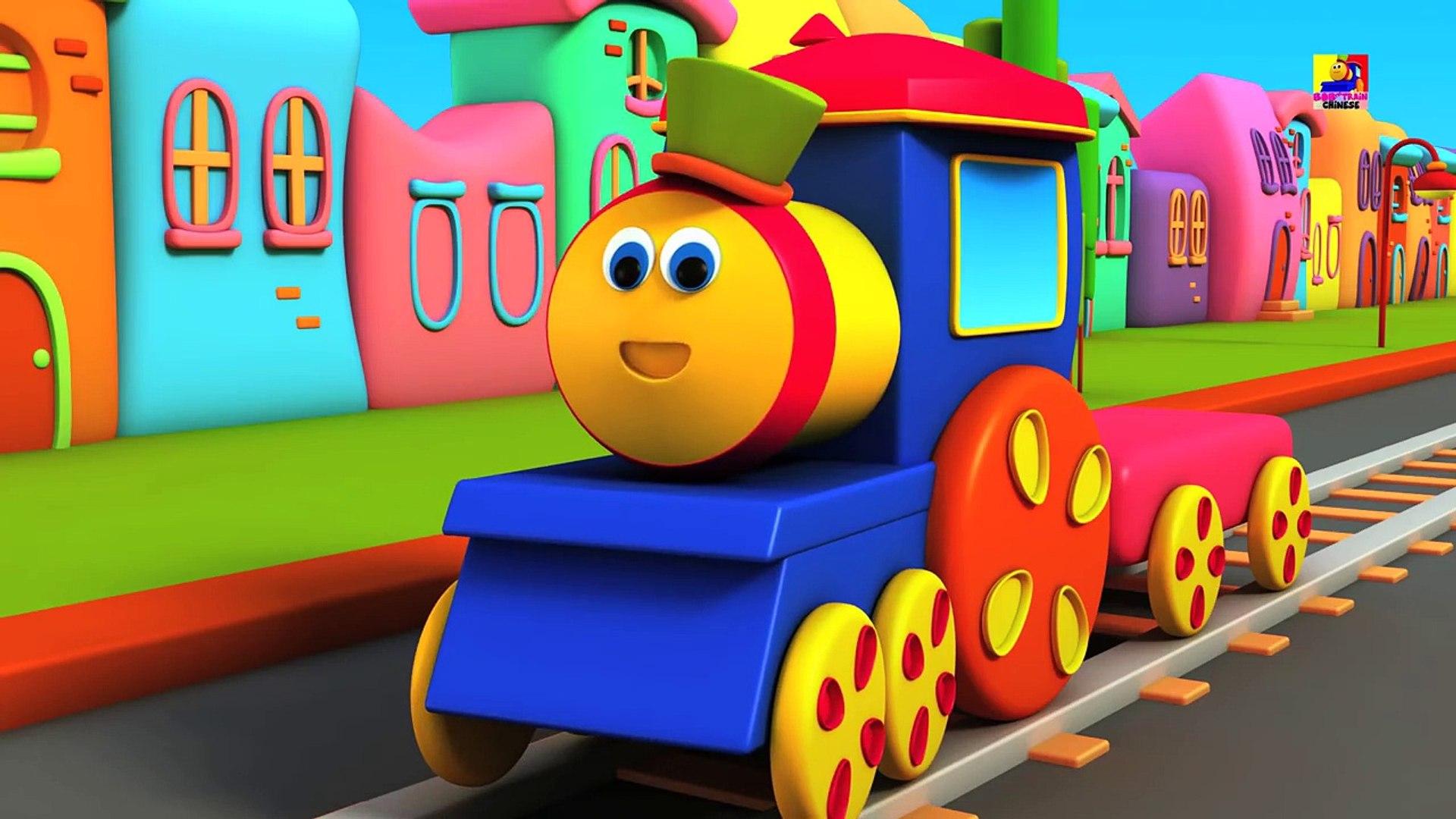 bob 运输火车   运输视频   学习车辆   Learn Transport with Bob   Bob The Train   3D Train   Bob Transpo