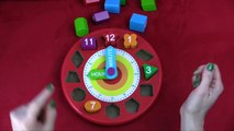 Number Clock - Lets Count and Learn Shapes, Colors and Numbers with Melissa and Doug Wood