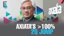 EVENING 5: Axiata 2Q skyrockets