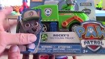 Des déchets camion patrouille patte recyclage rocheux jouet un camion déballage avec mgtracey