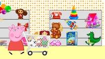 Dans le et achats magasin de jouets acheter chiot Peppa Pig ciel vlogs de patrouille animaux nourris