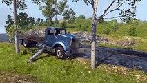 Para romper los coches accidente en accidente de tráfico colisión dibujos animados en 3D como juego de chicos que