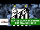 """""""Santos larga na frente dos rivais em 2017"""", avalia Bruno Prado"""