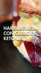 Hamburguesa con cuero de KETCHUP